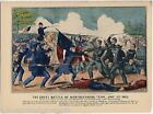 Battle of Murfreesboro Tennessee Vintage Civil War Soldiers Graphic Poster Print