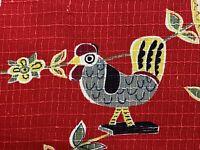Sale! 5YDS 1950s Primitive Kitsch Barkcloth Vintage Fabric Yardage Amish Country
