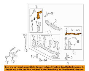 Lexus TOYOTA OEM ES300h Radiator Core Support-Upper Extension Right 5321333061