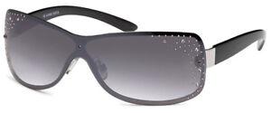 Sonnenbrille Damenbrille mit Strasssteinen Brille Monoglas Trendy A60013