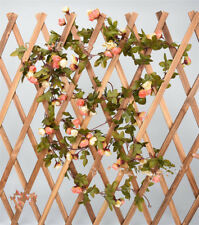 2.2M Long Silk Rose Flower Ivy Vine Leaf Garland Wedding Party Home Decor Crafts