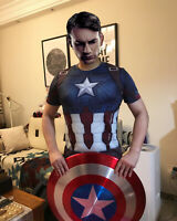 1/1 23inch Cosplay Marvel Captain America 75th Anniversary Metal Shield in stock