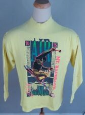 Vintage 80's Neon Freestyle Ski T Shirt Mt Bachelor XL/L USA Oregan 1989