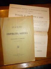 STATUTO DELLA COOPERATIVA AGRICOLA DI PRODUZIONE E CONSUMO Caserta 1919