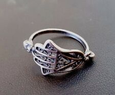 HAMSA HAND Ring #Sterling Silver 925 Judaica Jewelry Lucky Charm