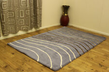 Indian Wool Rugs Premium Best Quality Thick Clearance Stylish Home Interior Rug 90x150cm (3x5') 5.devon Blue