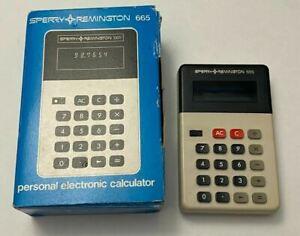 Vintage SPERRY REMINGTON Model 665 Electronic Calculator W/ Box