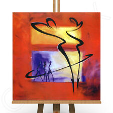 7 Panel Total 160x90cm Large ABSTRACT  ART CANVAS  DIGITAL MIRROR Orange Red