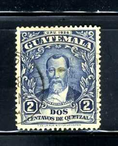 1929 Guatemala deep blue 2c Stamp Justo Rufono Barrios Scott 235