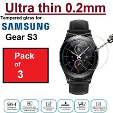 3X GENUINE TEMPERED GLASS FILM SCREEN PROTECTOR FOR Smartwatch Samsung Gear S3