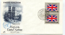 United Nations #399 Flag Series, United Kingdom ArtCraft, pair,  FDC