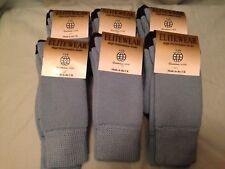 6 pair ladies winter socks double knit hiking walking terry wool loop 43% wool