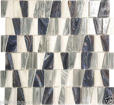 Rainforest Textured Stained Glass Kitchen Bath Wall Mosaic Tile- 14 Pack