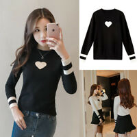 Women Scoop Neck Long Sleeve Sweater Pullover Knitted Tops Bottom T Shirt Blouse