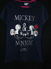 Disney Mickey & Minnie Mouse Navy Blue Poppy Remembrance T-Shirt (Size 14)