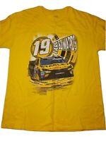 NASCAR Carl Edwards #19 Stanley Short Sleeve T-Shirt Yellow Men's Sz Large L D22