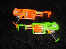 Nerf grün & orange Dart Tag Fury Fire Blaster Dart Pistole Revolver Set Lot Paar