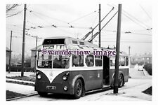 gw0104 - Rotherham Trolleybus no 8 at Crossley in 1961 - photograph