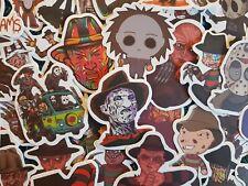 Horror Stickers 10/25/50 Freddy Kruger Jason Halloween Killer Murder Scary Movie