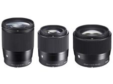 New listing Sigma Lens Bundle Sony E Mount 16mm 30mm 56mm