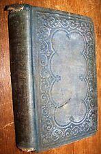 1853 ANTIQUE WESTERN AMERICA LIFE SUNDAY SCHOOL BIBLE STUDY BOOK MORTON FAMILY