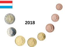 LUXEMBURGO  2018 SERIE DE EUROS, CON NUEVA MARCA DE CECA