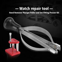 Durable Watch Repair Tools Hand Remover Plunger Puller Fitting Presser Kit AF
