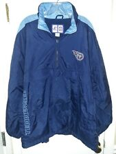 Mens NFL Game Day Tennessee Titans 1 4 Zip Lined Fleece Warm Pullover Jacket  ( d2d89b106