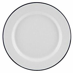 Falcon Enamel Dinner Plate 20cm Roasting Baking Serving Camping Pie Dish Caravan