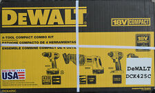 Dewalt DCK425C 18V Max Cordless 4 Tool Combo Kit - NEW