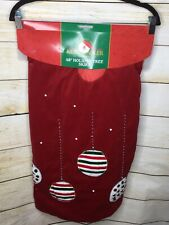 Kurt Adler Red Velvet Christmas Tree Skirt Ornament Design 48� New