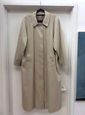 Womens Authentic BURBERRY Long Car coat Designer trench - Size 12 UK - BNWOT
