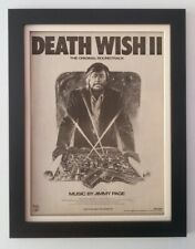 JIMMY PAGE*ZEPPELIN*Death Wish II*1982*ORIGINAL*POSTER*AD*FRAMED*FAST WORLD SHIP