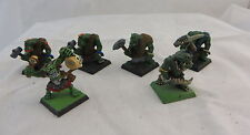 Warhammer Orcs & Goblins Savage Orcs metal army painted lot Oop (6)