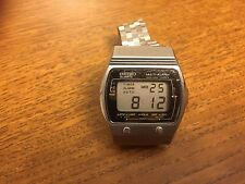Super Rare Vintage Seiko A029-4000 Mirror Dial Multi-Alarm Quartz Watch