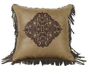 Hiend Las Cruces Embroidered Demask Throw Pillow