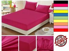 Bed Fitted Sheet Cover Protector Top Quality Bedsheet Solid Color Single/Queen