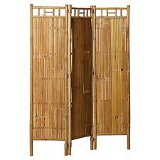 "NEW Bamboo 3 Panel Asian Organic Wood Screen Room Divider Indoor/Outdoor 63""x48"
