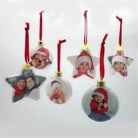 2019 Xmas Party Tree DIY Hanging Ornaments Christmas Photo Frame Pendant Decors
