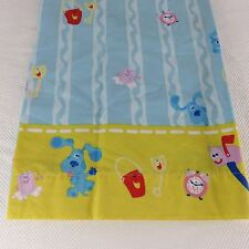 Vintage 1999 Blues Clues Twin Flat And Fitted Sheet No Pillowcase