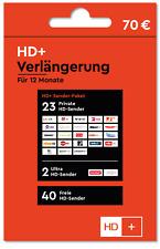 HD+ Plus HD Verlängerung 12 Monate f. alle Karten SAT HD Plus verlängern