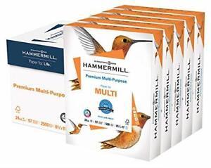 Hammermill Premium Multi-Purpose 24lb Copy Paper, 8.5 x 11, 5 5 Ream, White