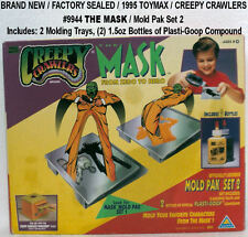 1995 TOYMAX Creepy Crawlers THE MASK - Mold Set 2 NEW Plasti-Goop