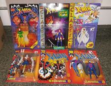 TOYBIZ X-MEN/ CLASSIC 6 FIGURE LOT NIGHTCRAWLER  ARCHANGEL STORM RANDOM Z17