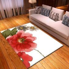 Pastoral Style Florals Printed Carpet Flannel Memory Foam Soft Area Rugs Home