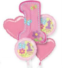 HUGS AND STITCHES GIRLS 1st BIRTHDAY PARTY BALLOONS BOUQUET DECORATIONS GIRL
