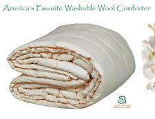 "Hypoallergenic Washable Pure Wool Comforter/Duvet, Down Alternative KING 100x86"""