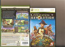 CIVILIZATION REVOLUTION XBOX 360 SID MEIER SIMULATION X BOX 360