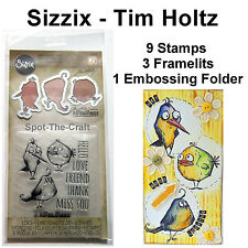 Tim Holtz ~ Bird Talk ~ Framelits Dies With Stamps & Embossing Folder ~ NIP