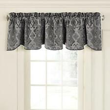 Beautyrest Normandy Rod Pocket Room Darkening Valances - Pewter - New - S/2